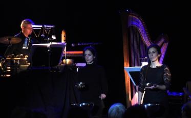 12 Nathalie Cornevin harpe Alain Pelletier percussions et Mathilde Barthélémy Conte Pattar 2 OK